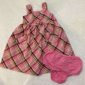 Pink patterned sundress